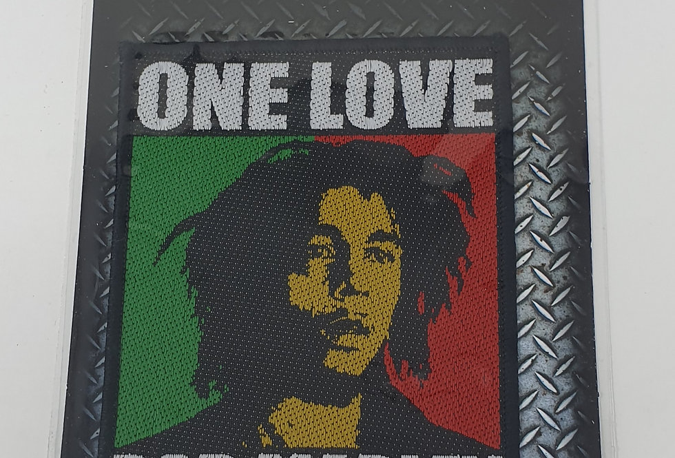 Bob Marley One Love Sew On Embroidered patch