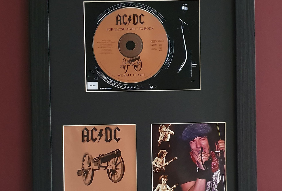 AC/DC For those about to rock cd album display