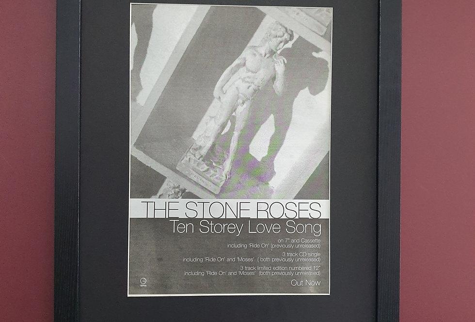 The Stone Roses Ten storey love song framed promo advert