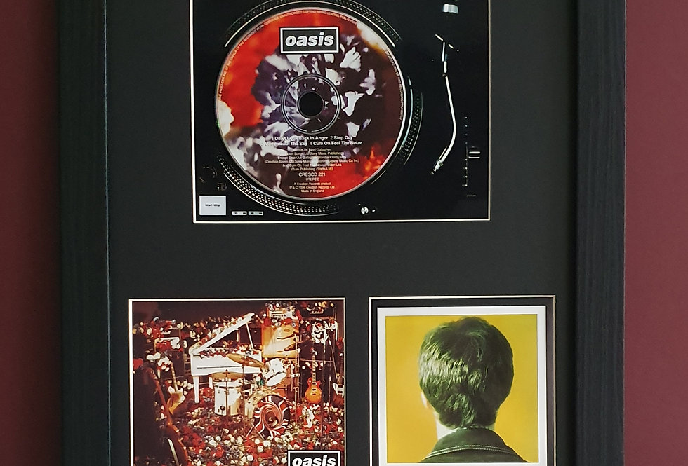 Don't Look Back In Anger cd single display