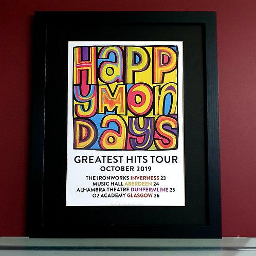 Happy Mondays 2019 Tour poster Scotland