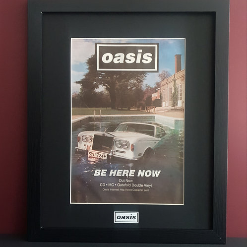 Oasis Be here now framed promo advert