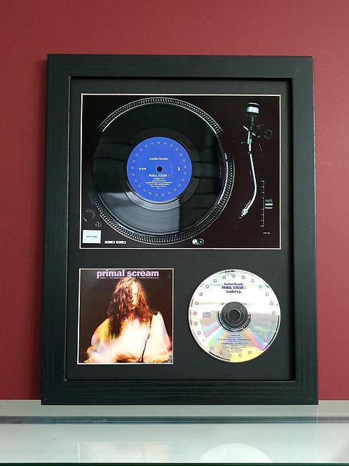 Primal Scream vinyl single display