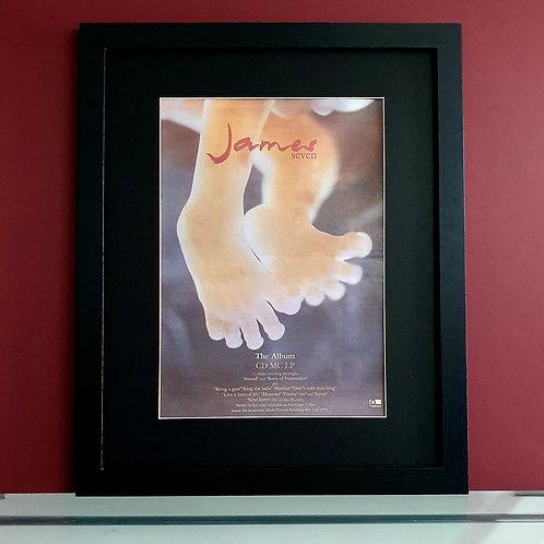 James Seven framed album advert