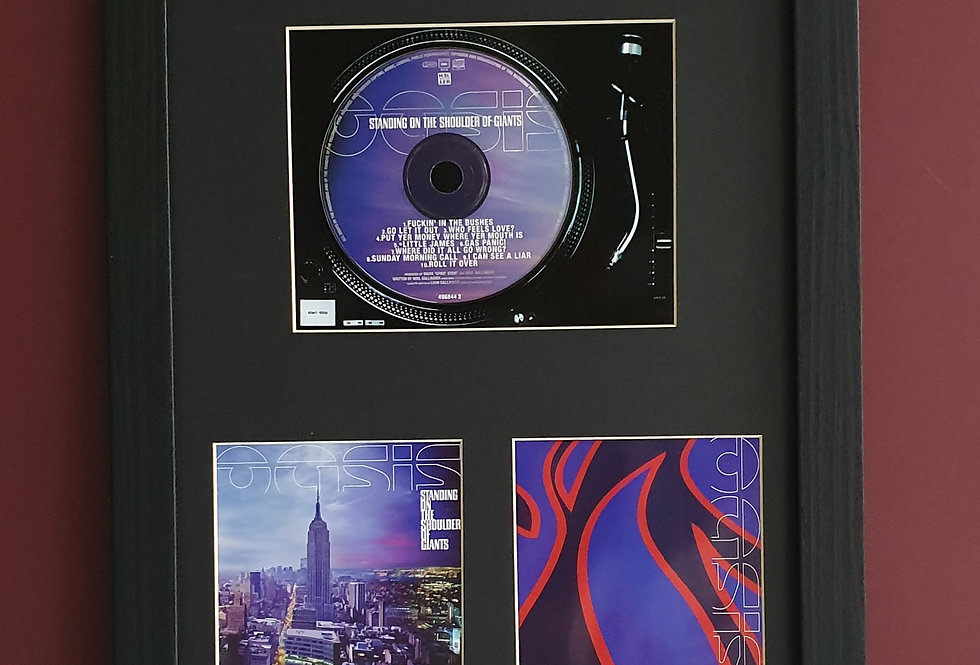 Oasis Standing on the shoulder of giants cd album display
