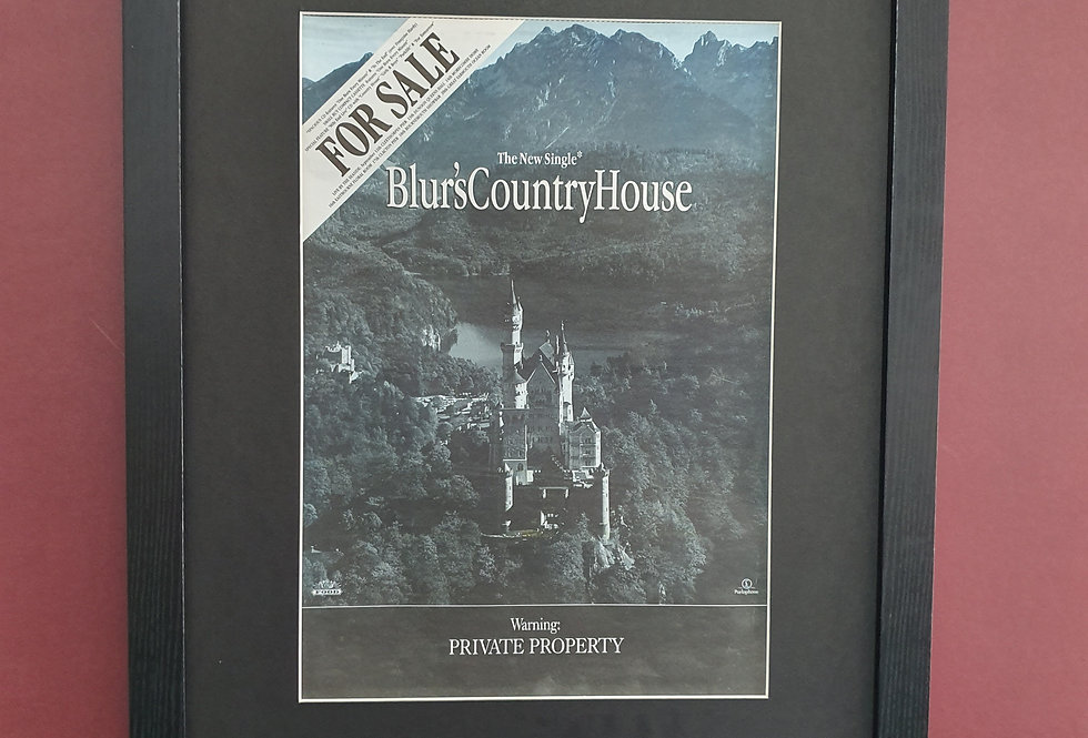 Blur Country House framed promo advert