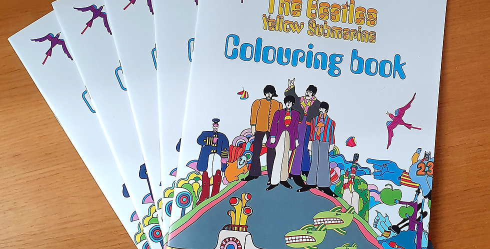 THE BEATLES COLOURING BOOK  YELLOW SUBMARINE