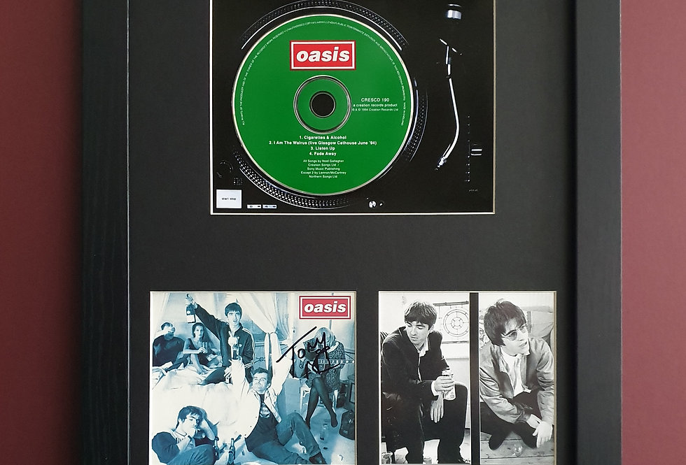 SIGNED Cigarettes & Alcohol Cd single display
