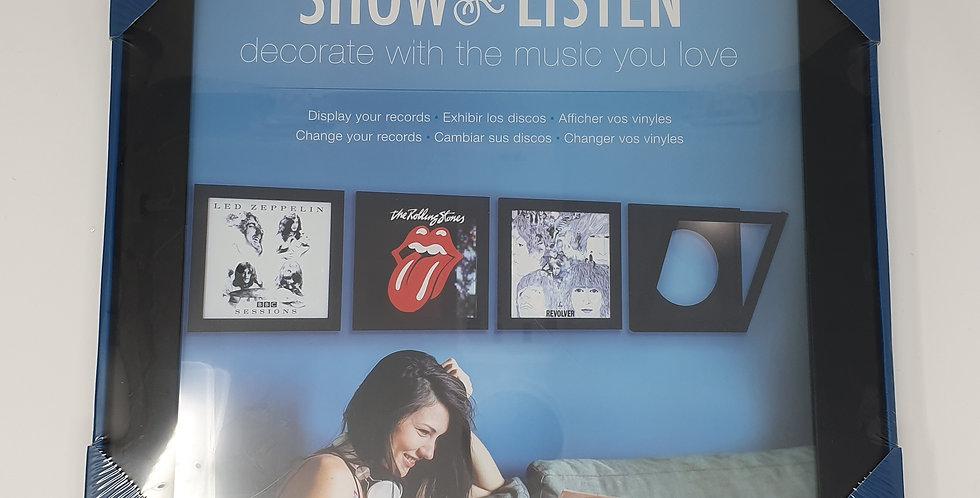Show and Listen Frame Black