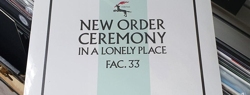 New Order Ceremony Vinyl Single White