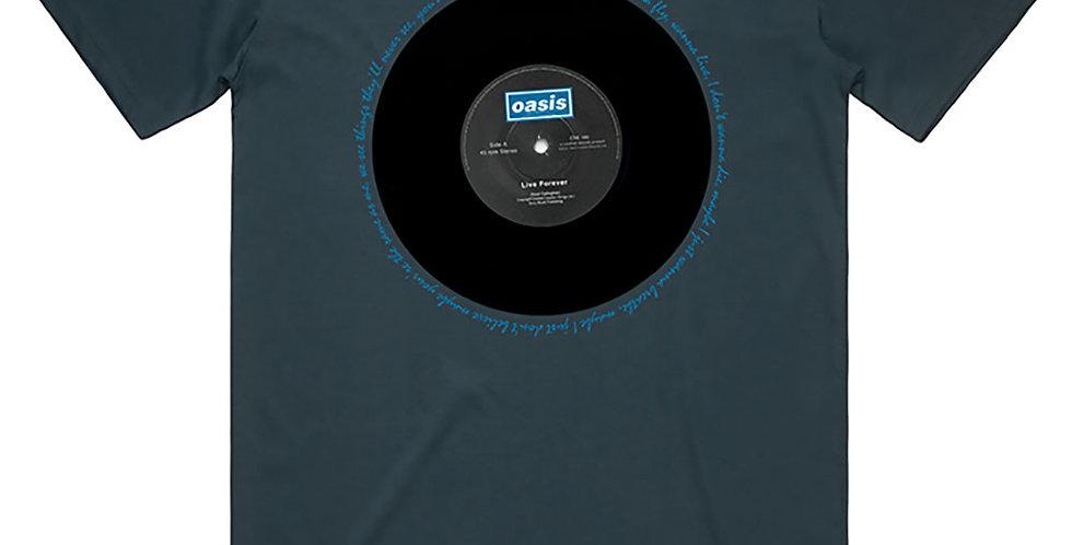 Oasis Live Forever T-shirt  (blue)