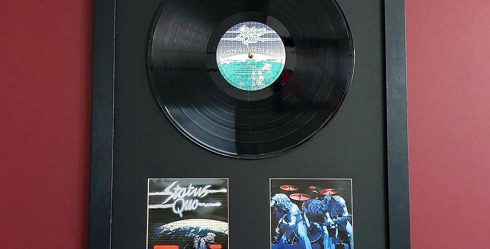 Status Quo vinyl album display
