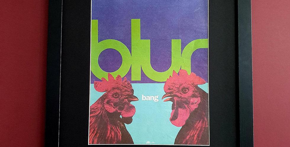 Blur Bang framed single advert