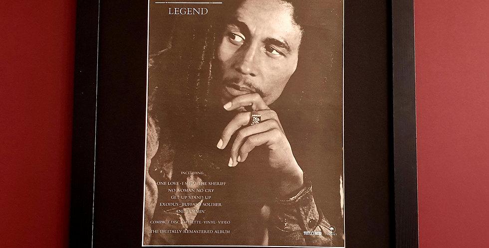 Bob Marley Legend framed album advert