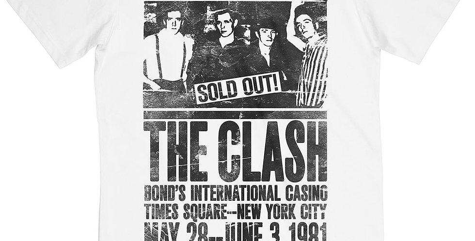 The Clash 1981 official Tshirt