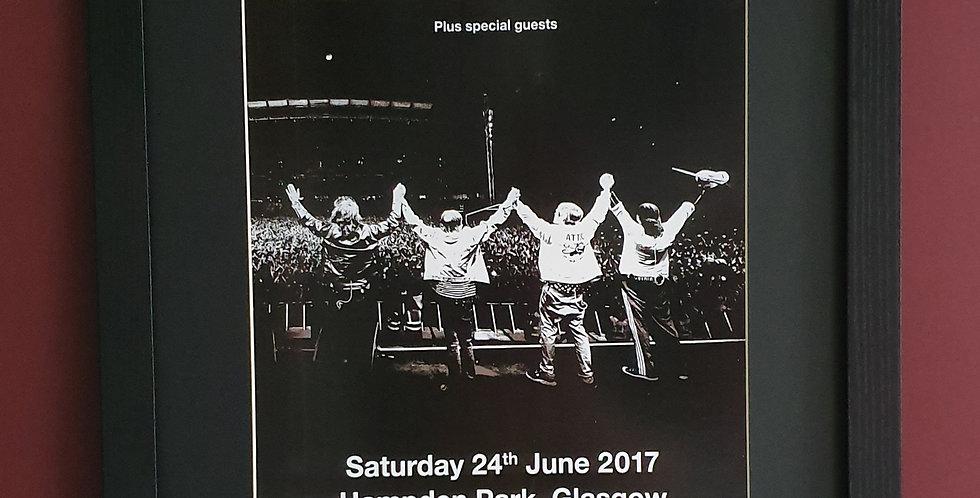 The Stone Roses Hampden 2017 framed tour poster