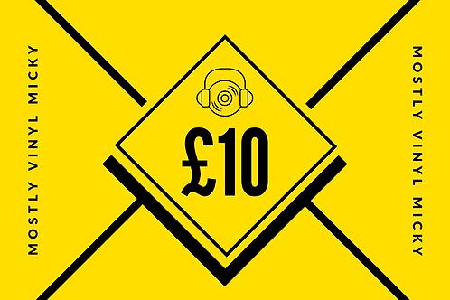 £10 Vinyl Micky Gift Card