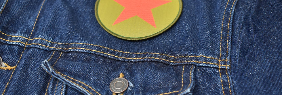 Red Star Khaki Sew On Embroidered patch