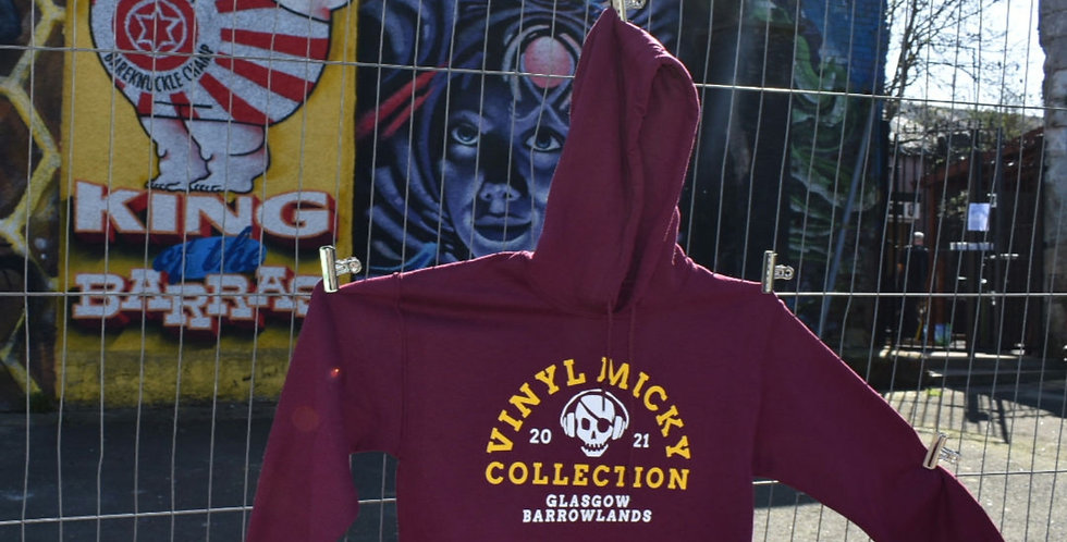 Vinyl Micky Collection Hoodie (Maroon)