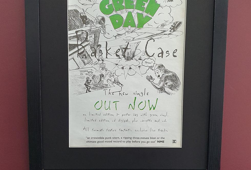 Green Day Basket Case framed promo advert