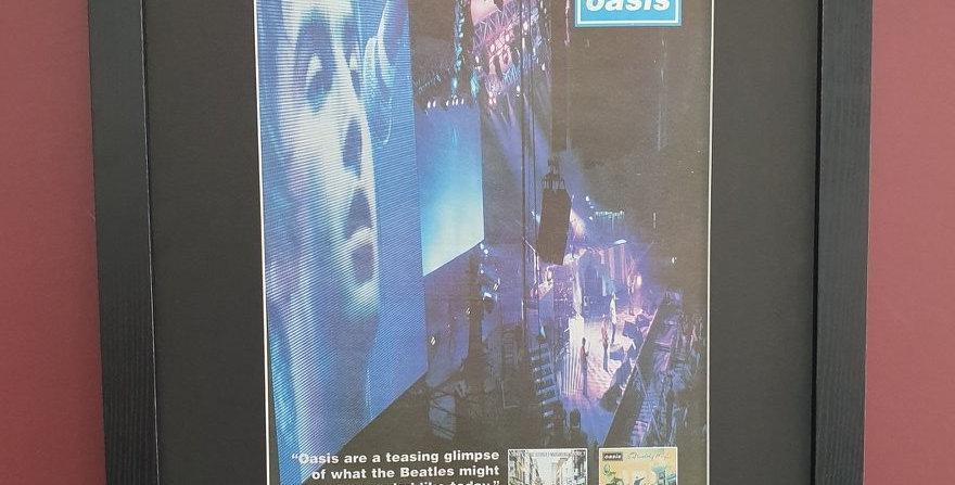 Oasis framed promo advert