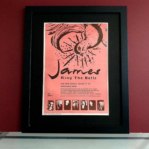 James Ring the bells framed single advert