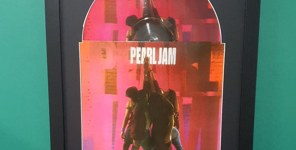 Pearl Jam Picture Disc display