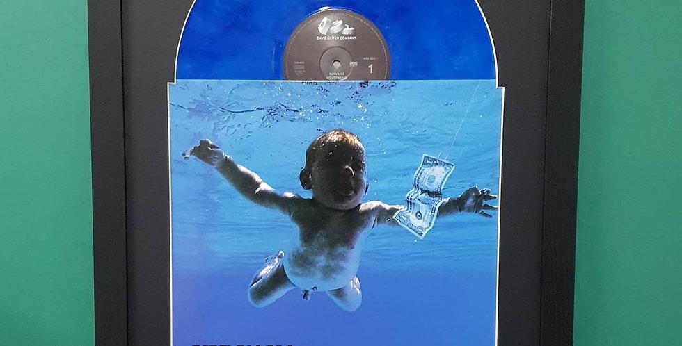 Nirvana Nevermind vinyl album display