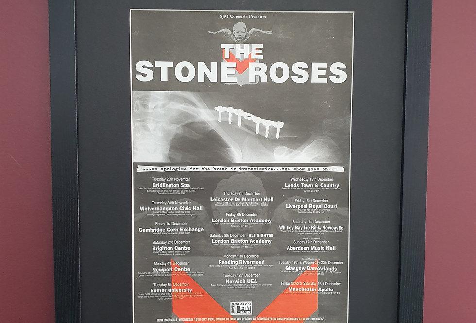 The Stone Roses 95 tour framed promo