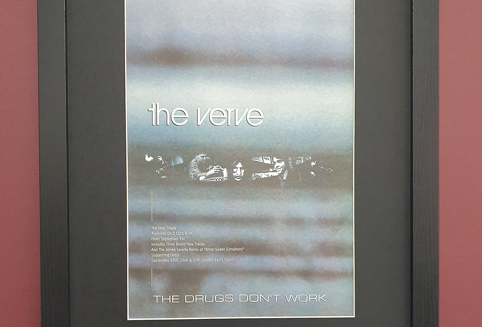 The Verve the drugs dont work  framed promo advert