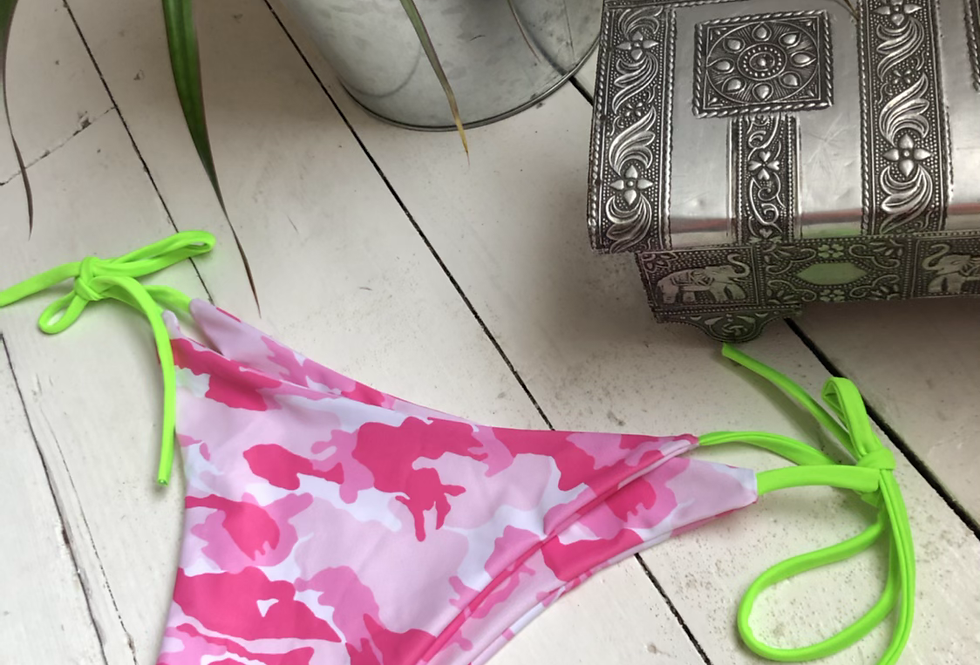 Sale - pink CAMO ti up bottom SMALL/medium