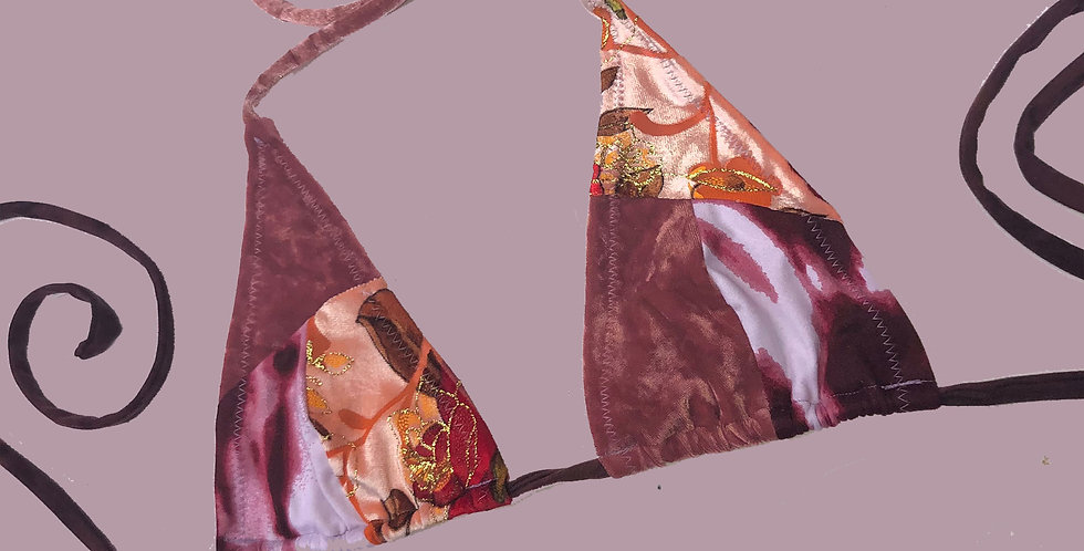 Ingrid patch  bikini top ( M )