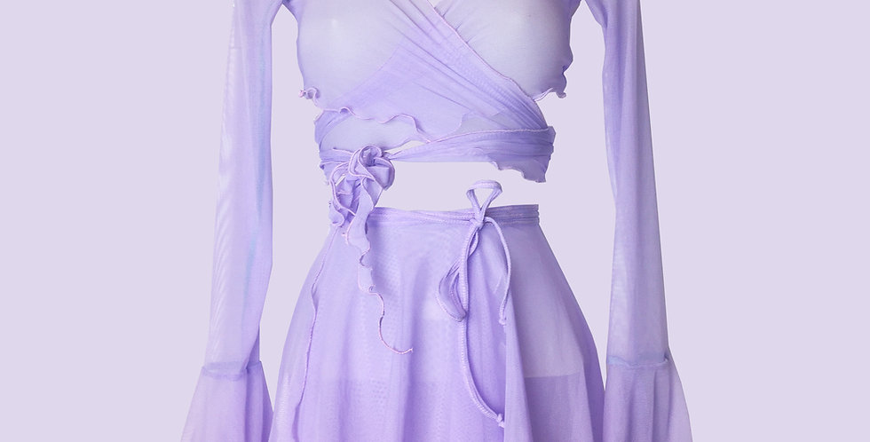 LILAC FAERIE WRAP TOP