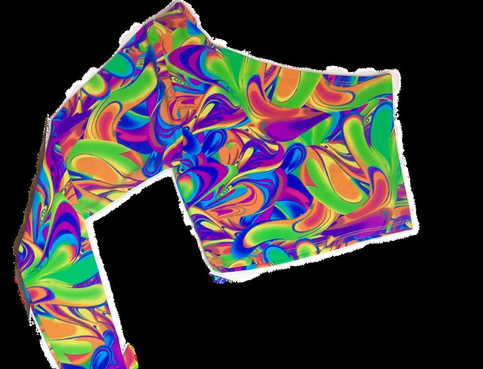 Groovy swirls asymmetric top