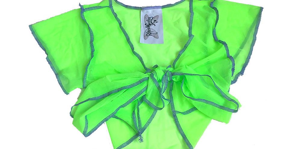 GREEN / LILAC ( S ) FAERIE WRAP TOP