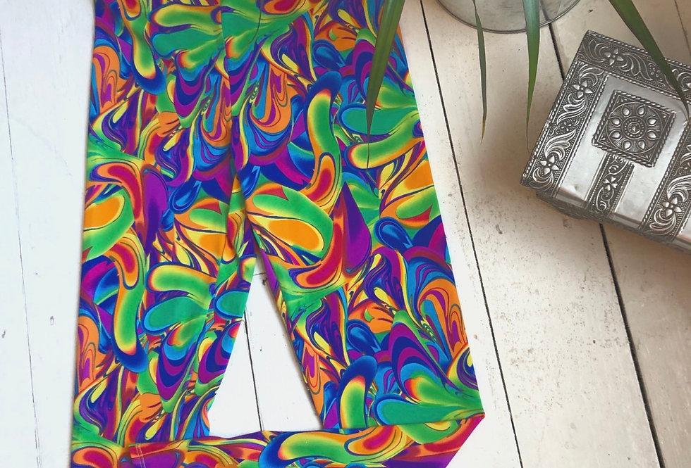 Sale - groovy swirl leggings SMALL