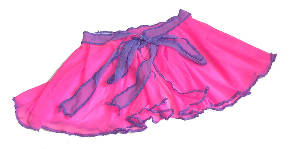 PINK / LILAC ( M ) FAERIE WRAP SKIRT