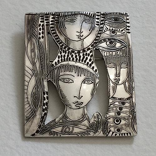 Silver brooch 676 | Susan Brooks