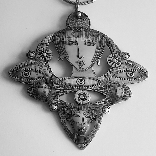Sterling silver Pendant 613