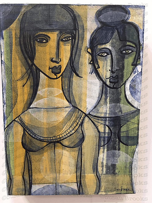 Painting of two women