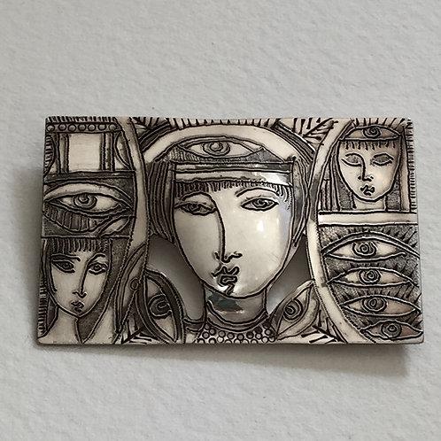 Sterling silver brooch | Susan Brooks