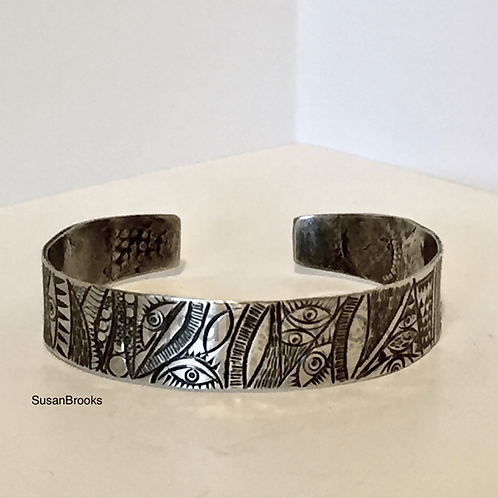 Narrow Silver Cuff Bracelet 627 | Susan Brooks