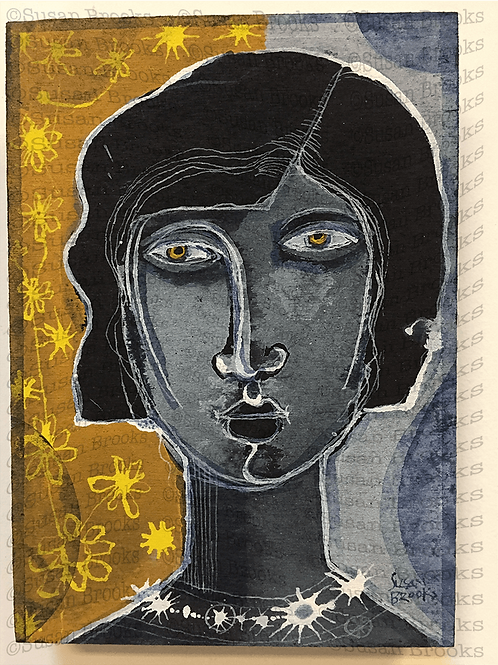 Painting: woman's face 591