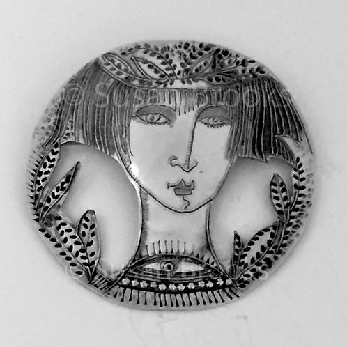 Silver brooch 632   Susan Brooks