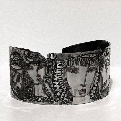 Faces silver bracelet 631 | Susan Brooks