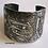 Wide silver cuff: Fish and eye motif 624  | Susan Brooks