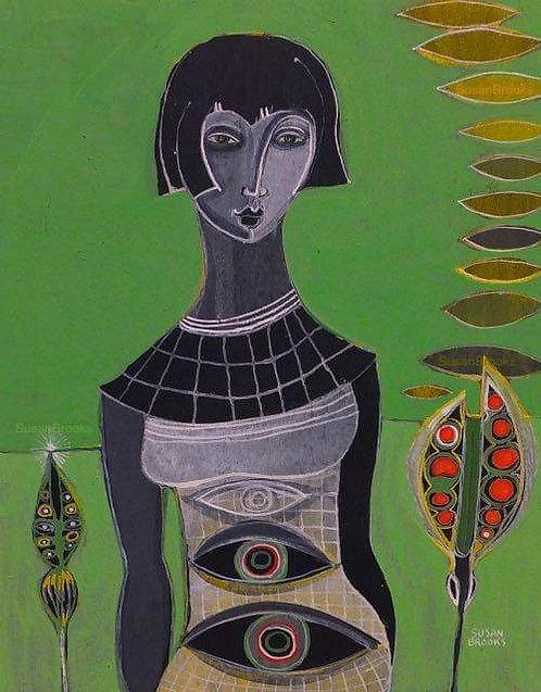 Painting: woman | Susan Brooks