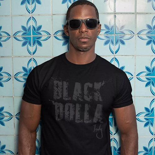 Mens Abstract Tee - All Black