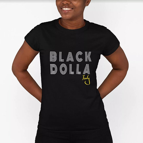 Ladies Fitted Classic Tee - Black & White