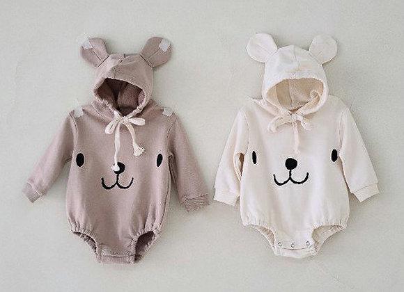 Little Bear Hooded Onesie